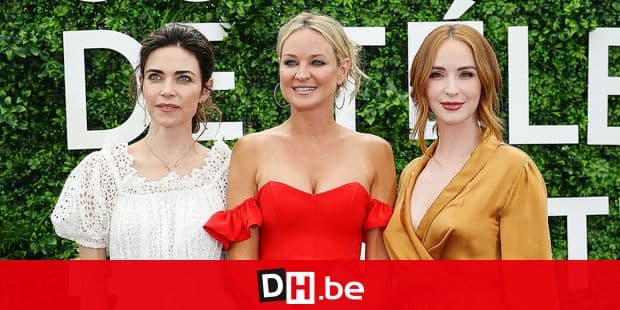 Amelia Heinle, Sharon Case and Camryn Grimes attends 'The Young and the Restless' photocall during the 59th Monte Carlo TV Festival : Day Two on June 15, 2019 in Monte-Carlo, Monaco. Reporters / Crystal Pictures