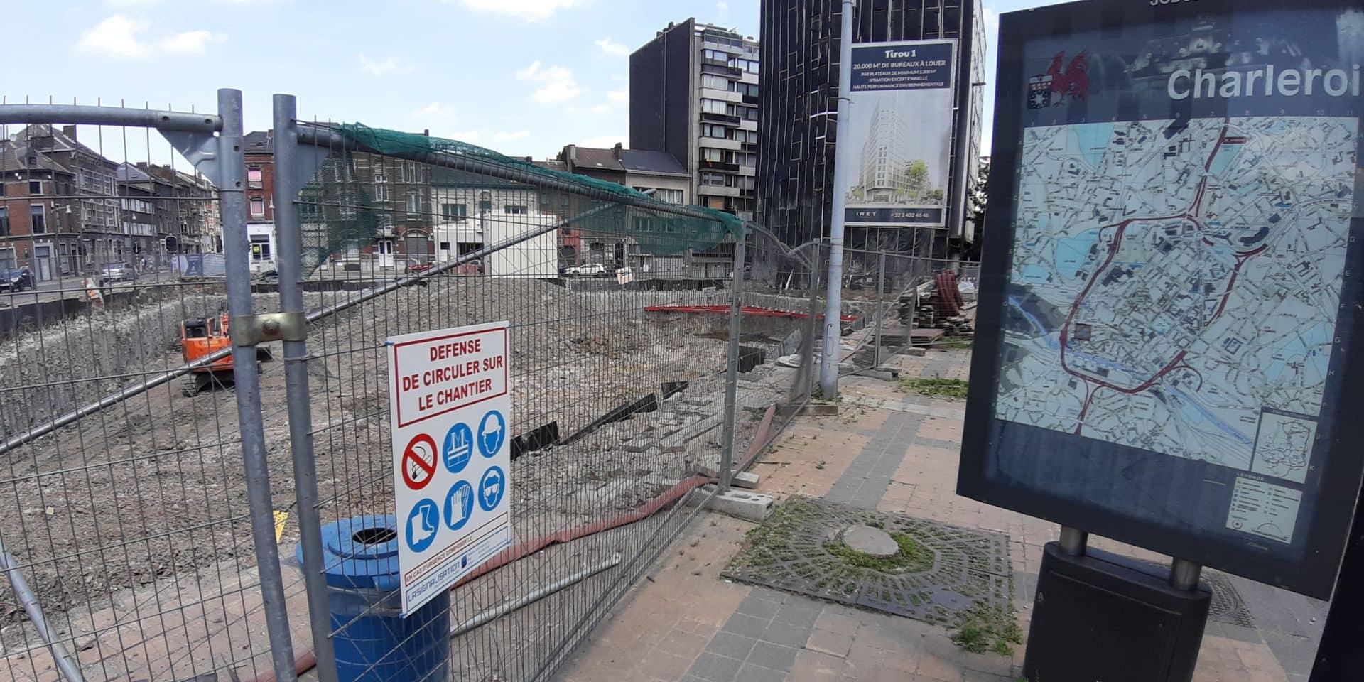 Charleroi: plusieurs chantiers phare à l'arrêt