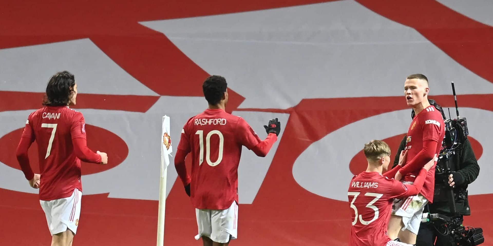 FA Cup: Manchester United qualifié pour les quarts de finale