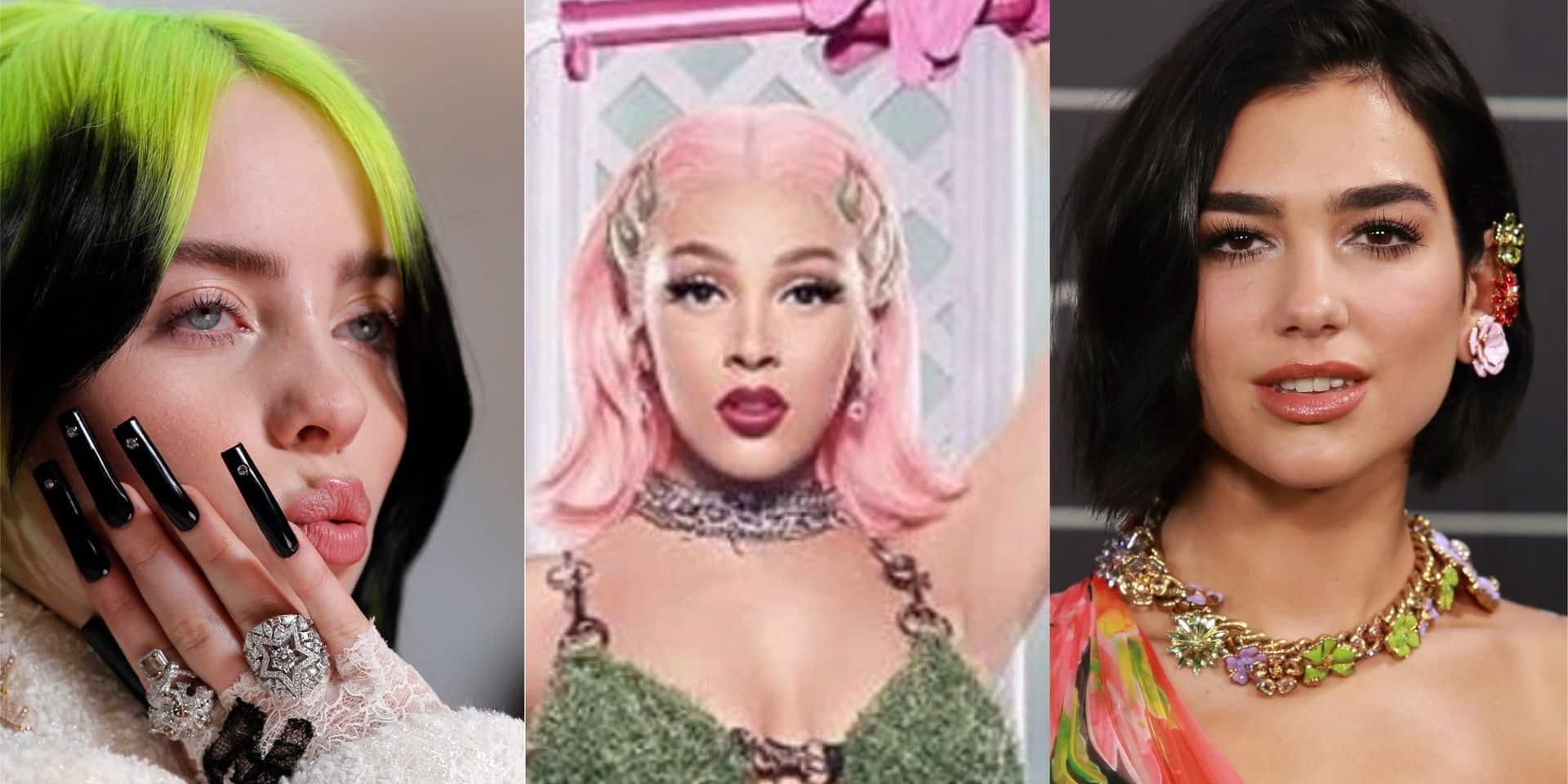 Billie Eilish, Doja Cat et Dua Lipa sont les seules femmes au classement des plus grands tubes de cette année