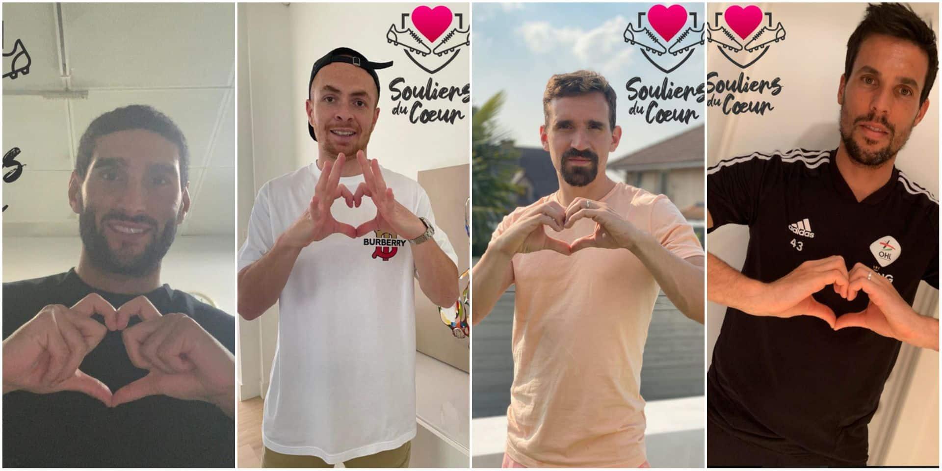 """A l'initiative de Mogi Bayat, les """"Souliers du Cœur"""" avec Fellaini, Januzaj, MPH,... se mobilisent contre le coronavirus"""