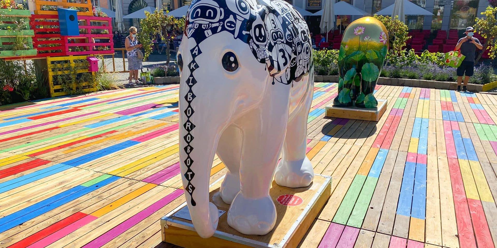 À cause du vandalisme, la ville de Mons contrainte de déplacer ses éléphants
