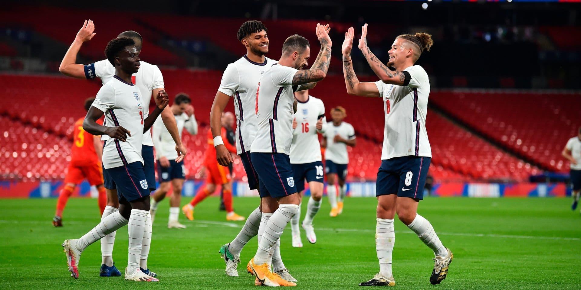 Voici la sélection anglaise qui affrontera les Diables rouges le 15 novembre