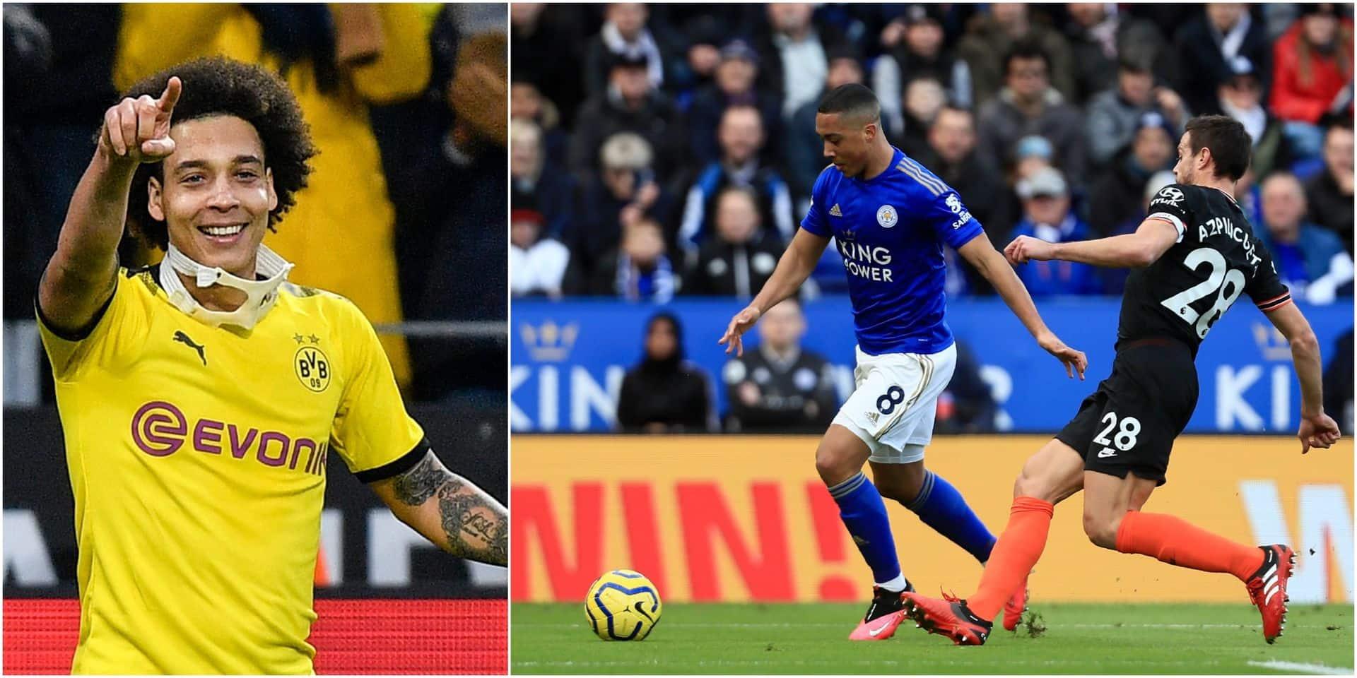 Belges à l'étranger: deux passes décisives pour Tielemans face à Chelsea, Witsel buteur (VIDEOS)