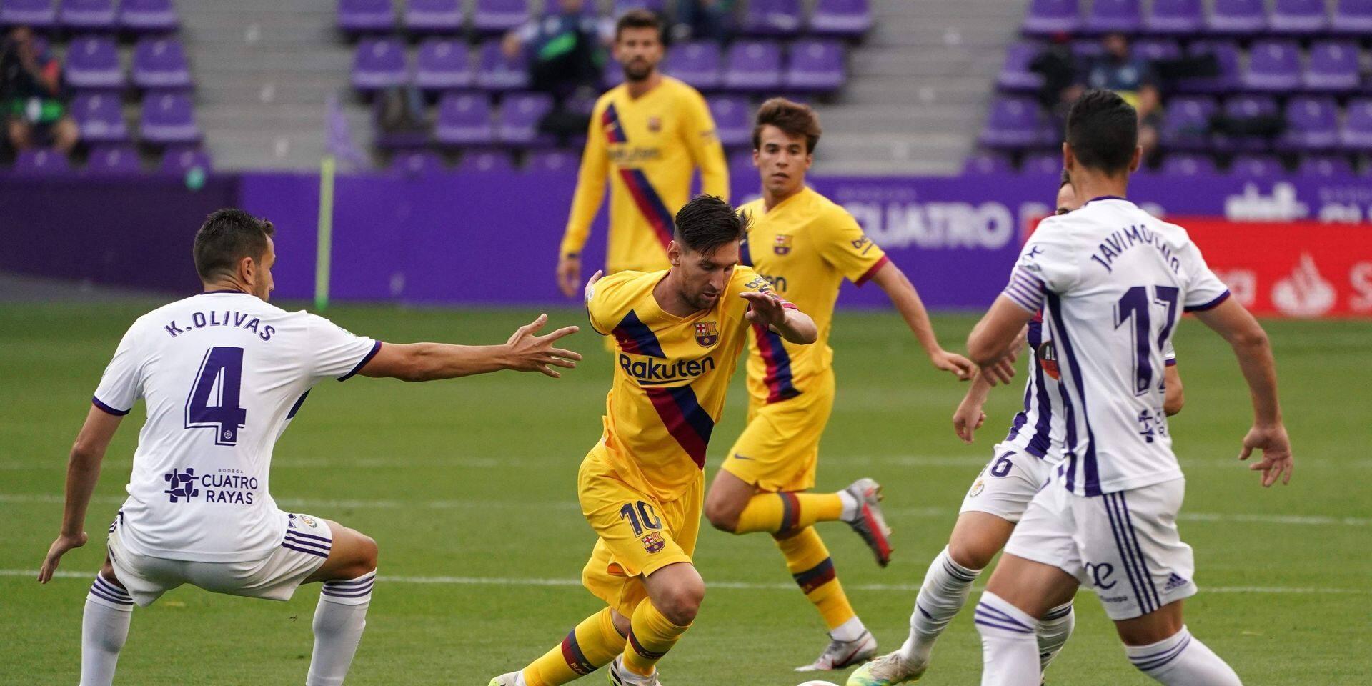 Liga: le Barça assure l'essentiel à Valladolid et retarde le sacre du Real, Messi toujours muet