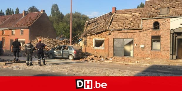 The scene of a house destroyed by a gas explosion at the route d'Ath in Jurbise ..., Saturday 01 September 2018. BELGA PHOTO CAROLINE TICHON