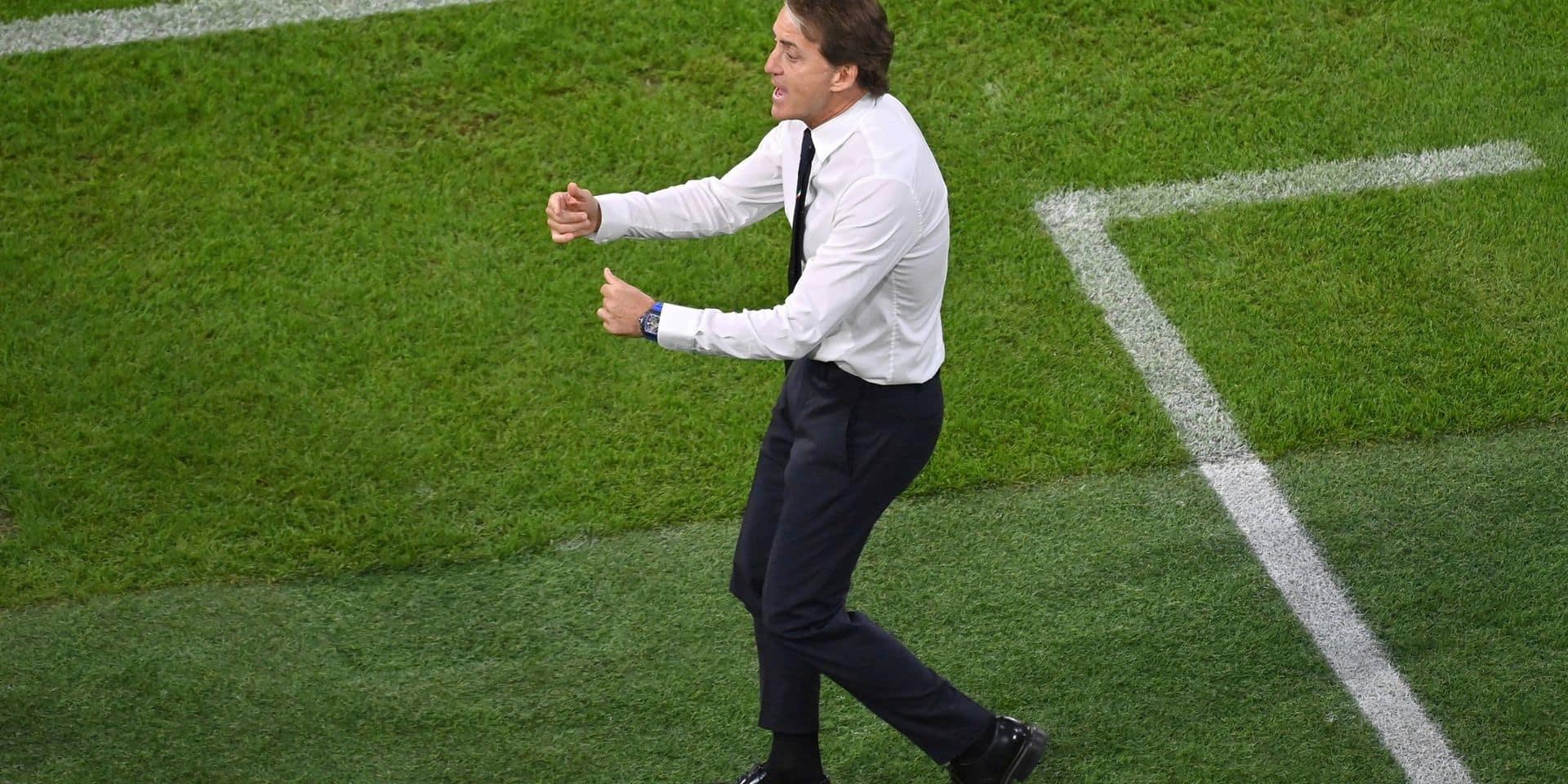 """Roberto Mancini revient sur la victoire de l'Italie: """"Pour battre une formation comme la Belgique, tout le monde doit livrer une prestation aboutie"""""""
