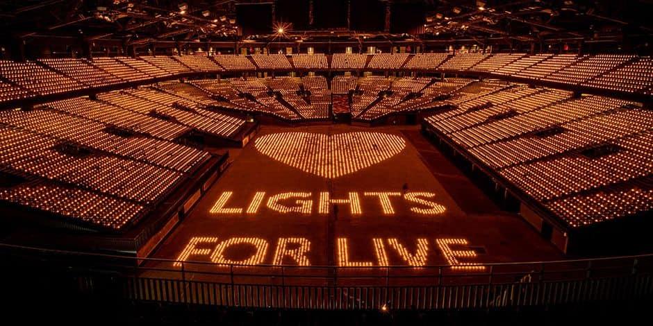 "Un Sportpaleis sold out pour ""Lights for Live"""