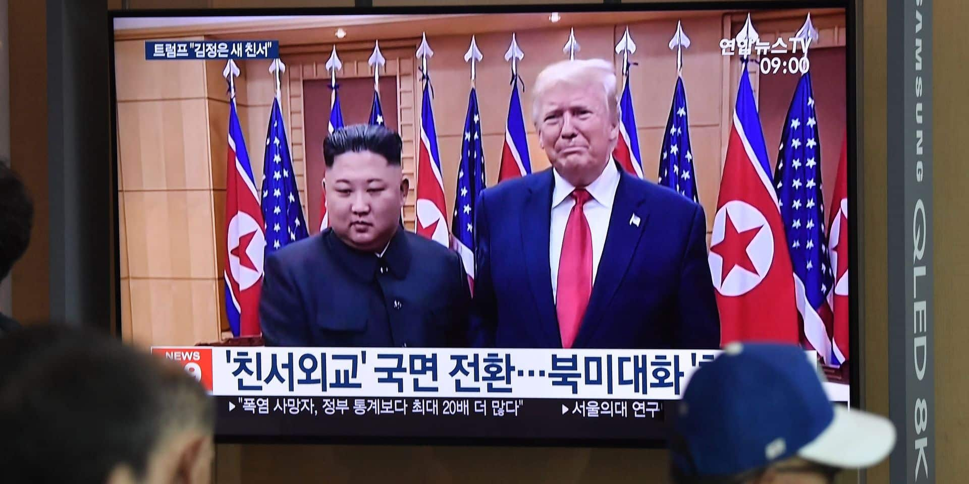 """Trump affiche son entente avec Kim, qui tire deux nouveaux """"projectiles"""""""