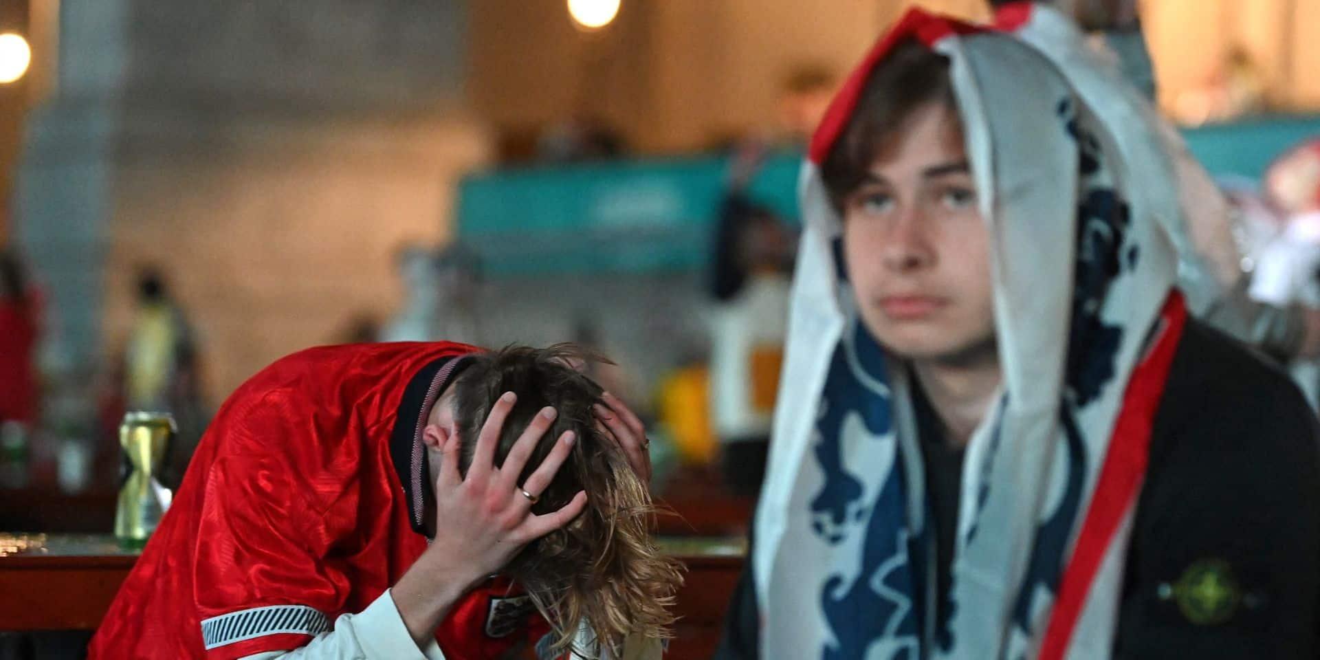 A Londres, des larmes dans la bière pour les supporters anglais
