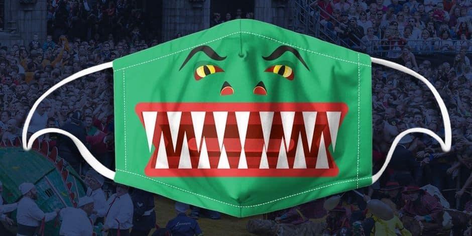 Mons: un masque de tissu aux couleurs du Doudou !