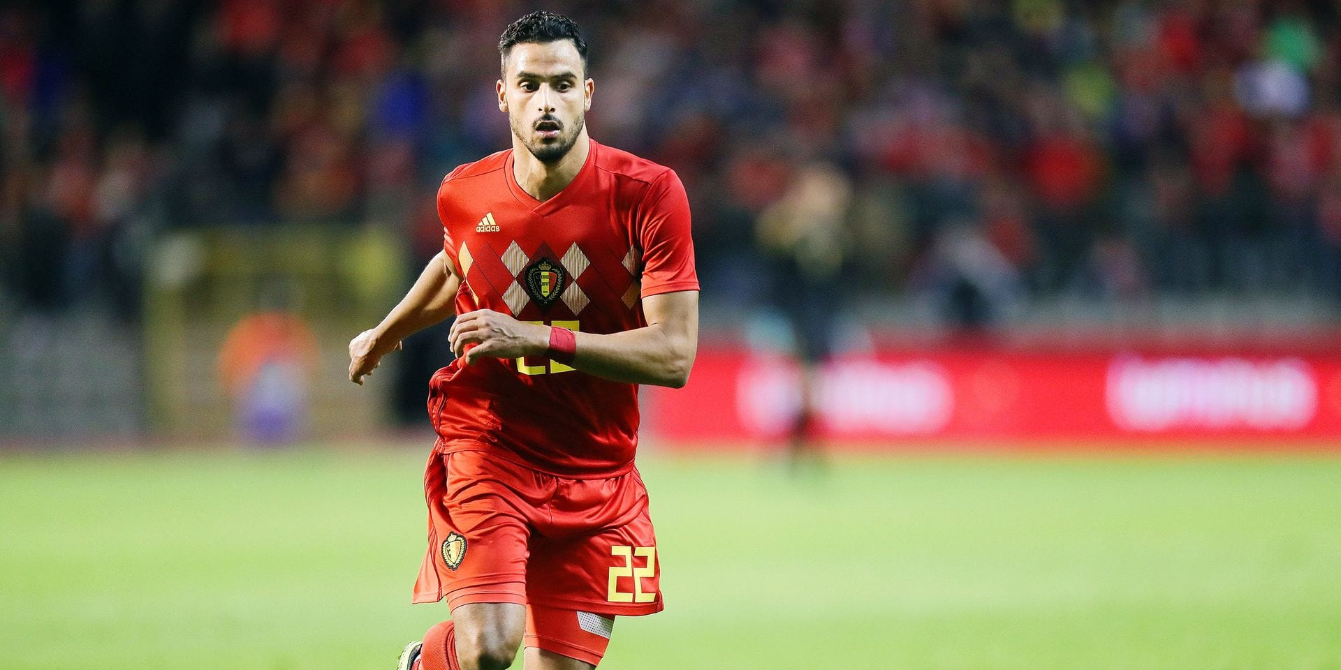 Belgium's Nacer Chadli pictured in action during a friendly soccer game between Belgian national team Red Devils and Mexico, Saturday 11 November 2017, in Brussels. BELGA PHOTO VIRGINIE LEFOUR