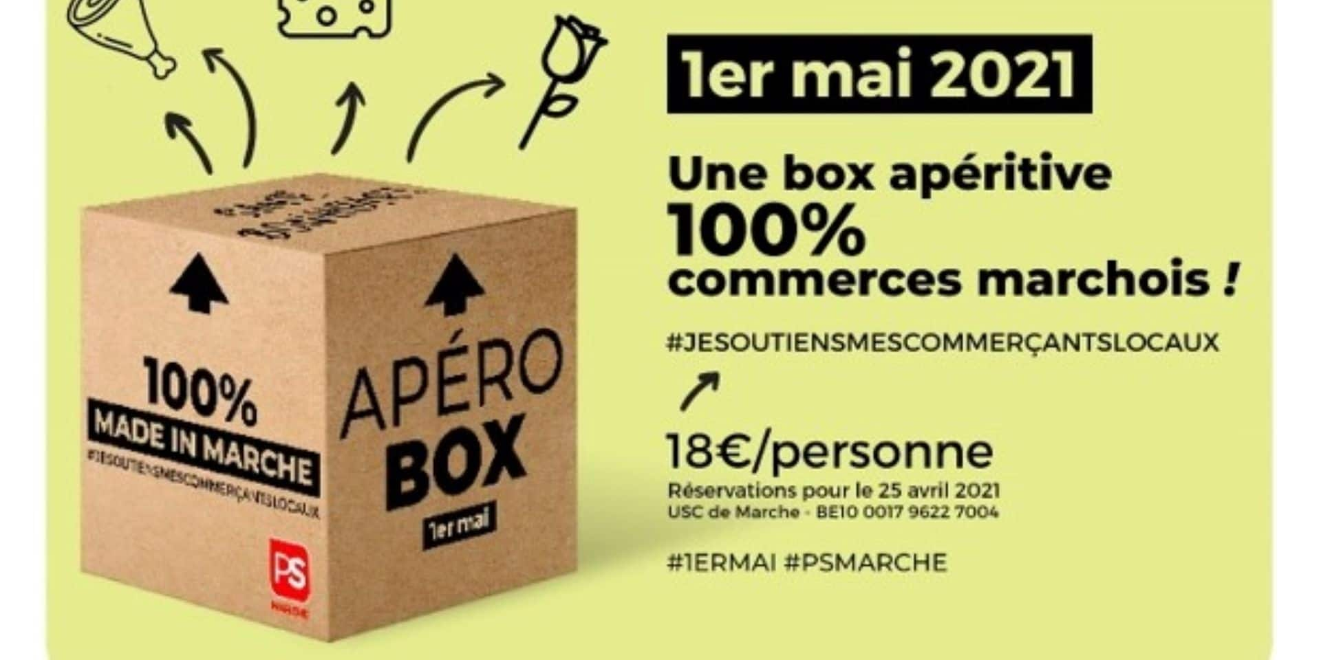 """Marche-en-Famenne : des box apéritives """" 100 % commerces marchois"""""""