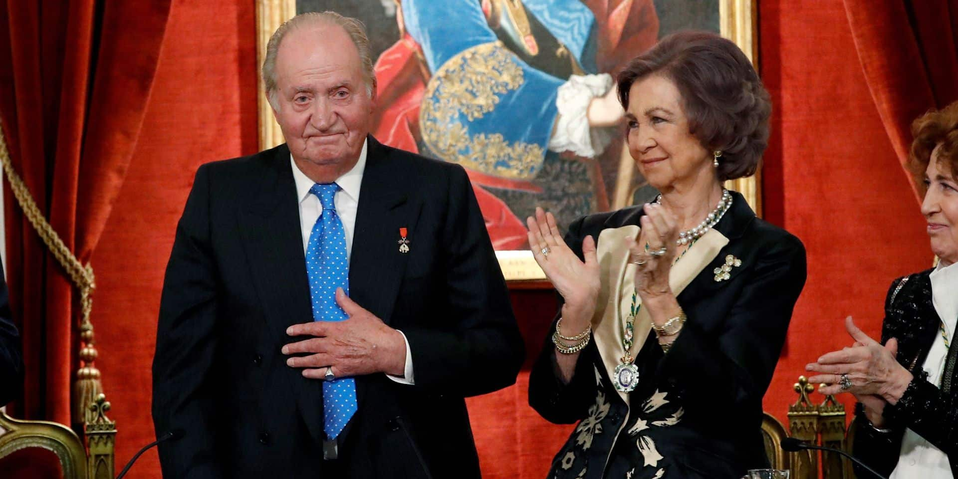 King Juan Carlos and Queen Sofia attend an act by the Spanish Royal History Academy in Madrid, Spain