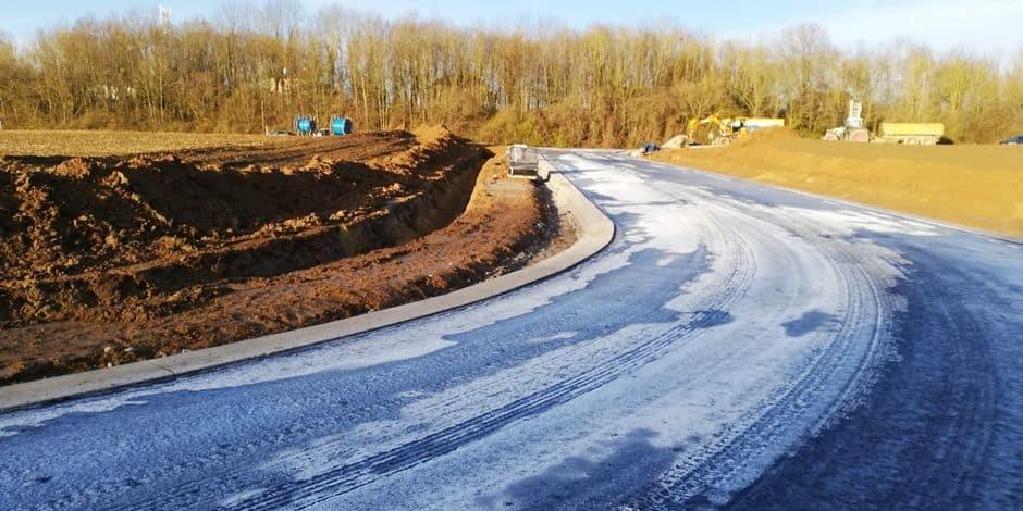 Parc d'activité de Spontin : fin du chantier voirie et début des aménagements verts