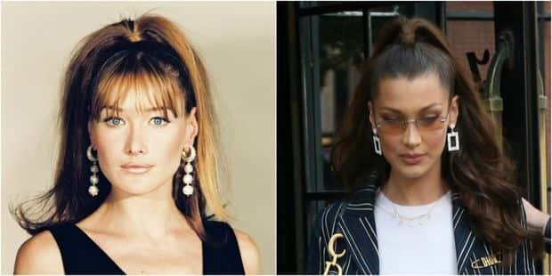 Bella Hadid ressemble de plus en plus à Carla Bruni - La DH