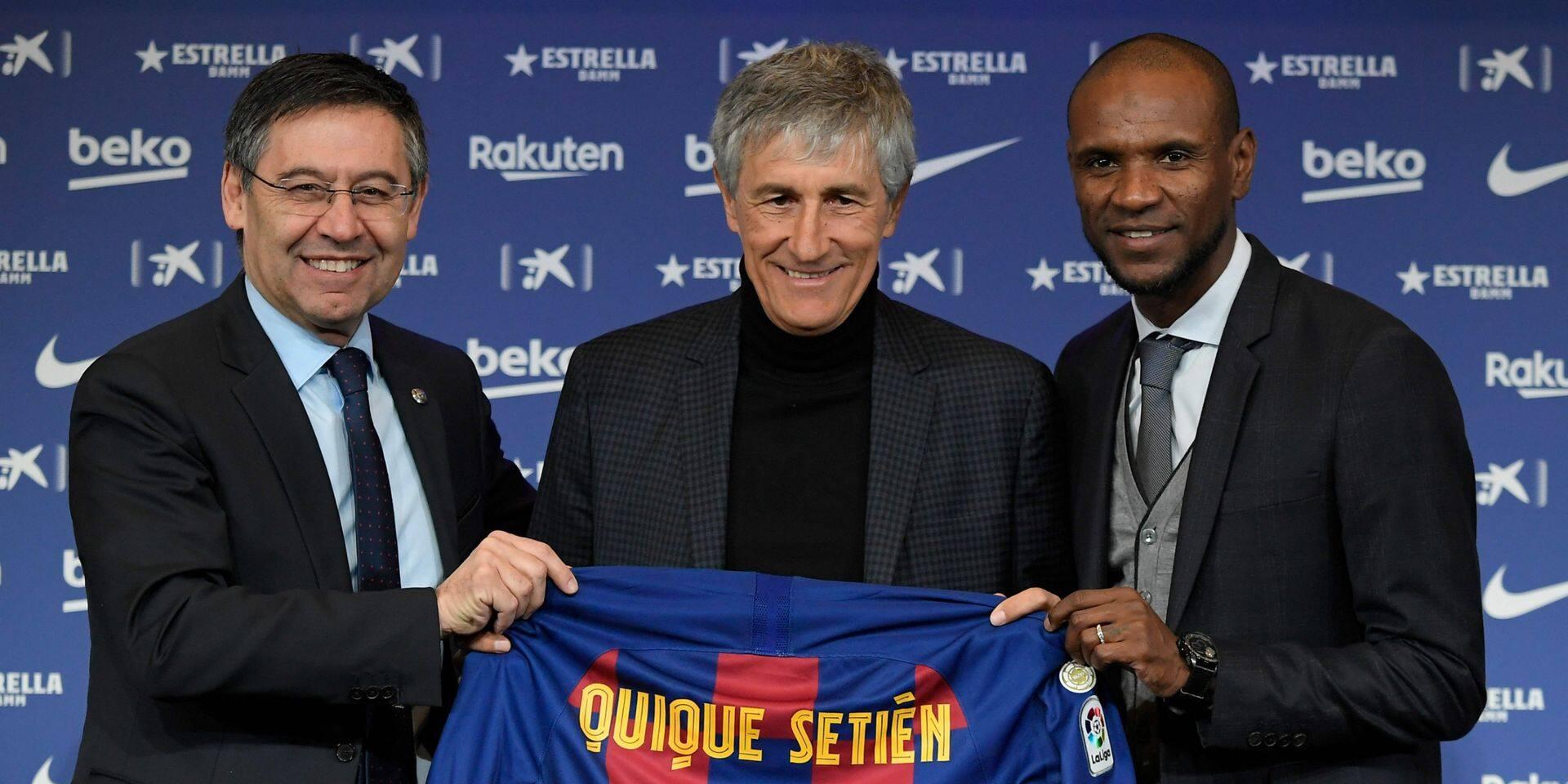 """Quique Setién, nouveau coach du Barça, donne le ton: """"Ma seule promesse, c'est que mon équipe jouera bien"""""""