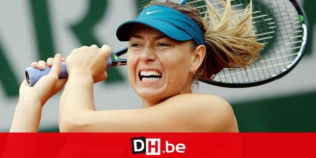 Russia's Maria Sharapova returns a shot against Netherland's Richel Hogenkamp during their first round match of the French Open tennis tournament at the Roland Garros stadium in Paris, France, Tuesday, May 29, 2018. (AP Photo/Alessandra Tarantino)