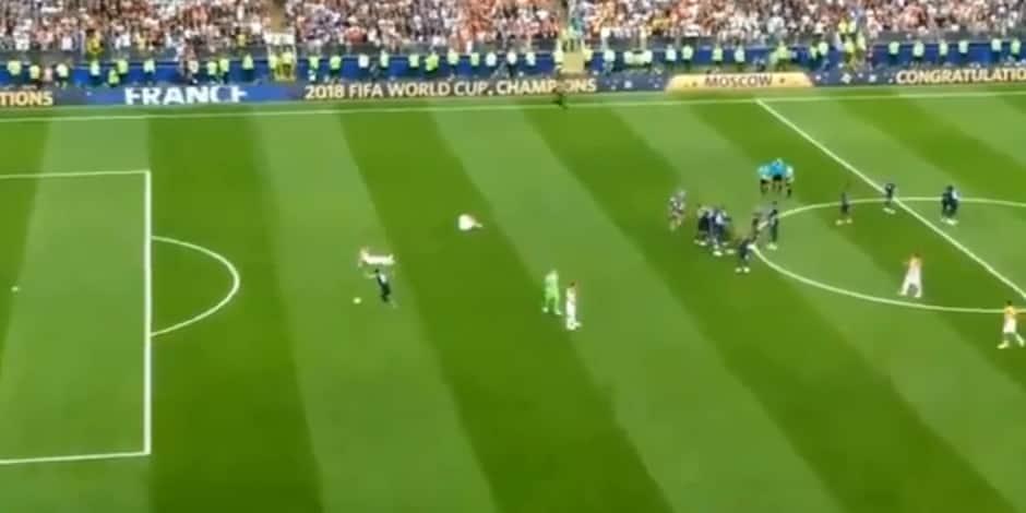 Non, ce n'est pas Olivier Giroud qui raté sa frappe après le coup de sifflet final contre la Croatie