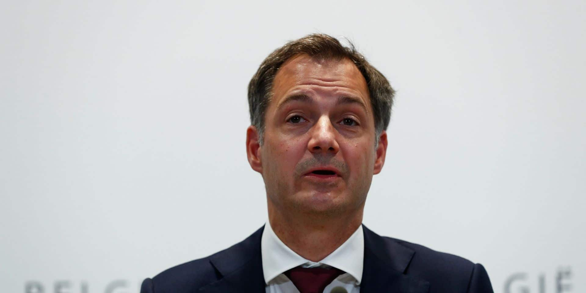 """Alexander De Croo se félicite du plan de relance belge, """"l'un des plus verts"""""""