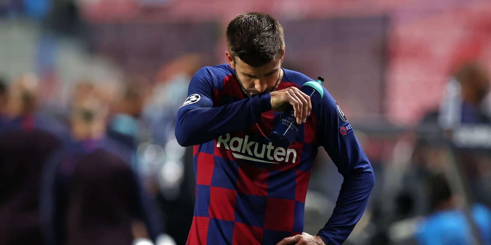 """Piqué amer après la raclée face au Bayern: """"Le club a besoin de changements"""""""