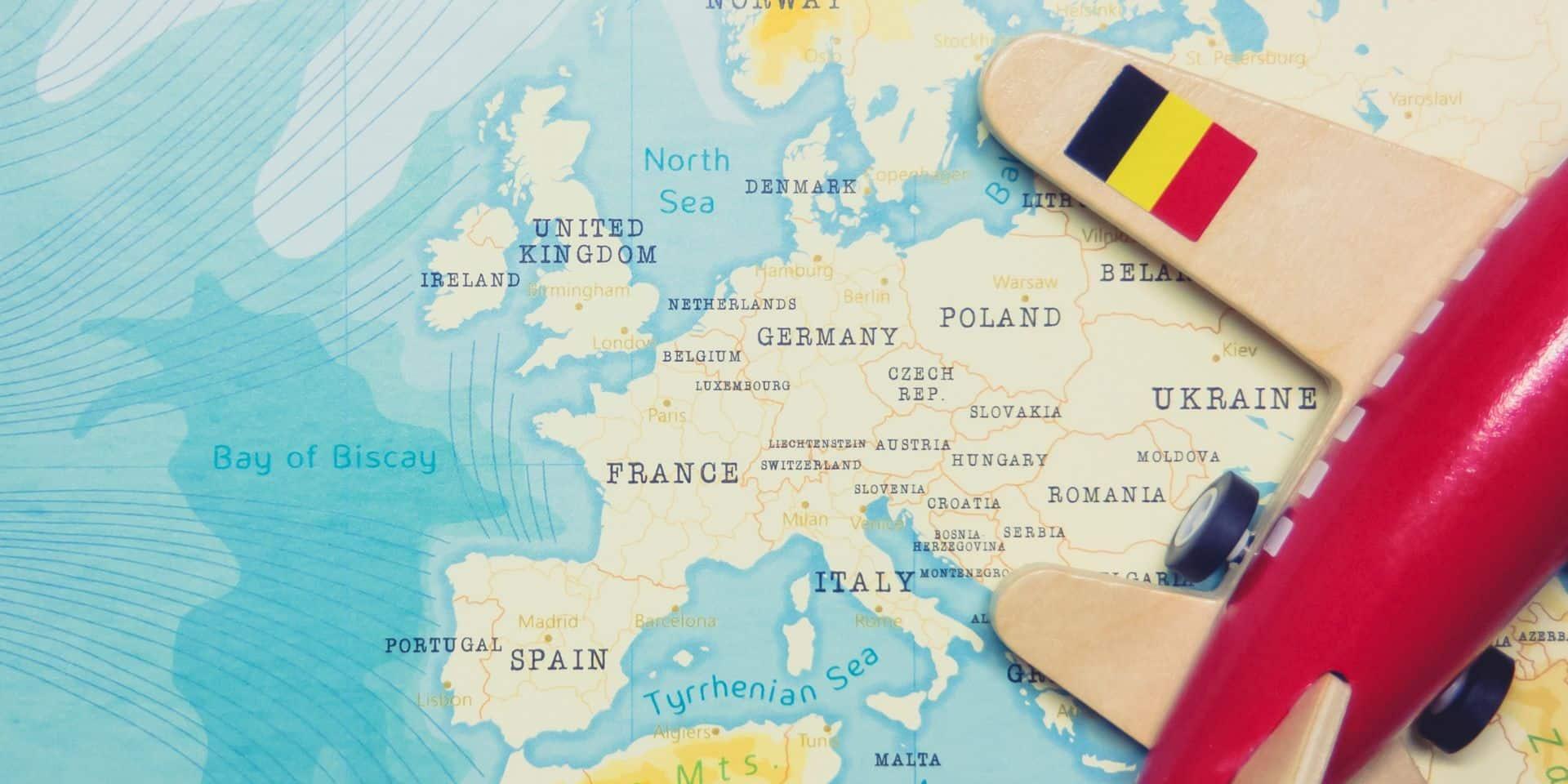 La Belgique passe à l'orange sur la carte des voyages