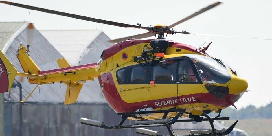 La sécurité civile française envoie 40 sapeurs-sauveteurs et un hélicoptère à Liège