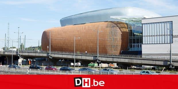 Chantier du futur centre commercial Docks Bruxsel qui doit ouvrir le 20 octobre 2016