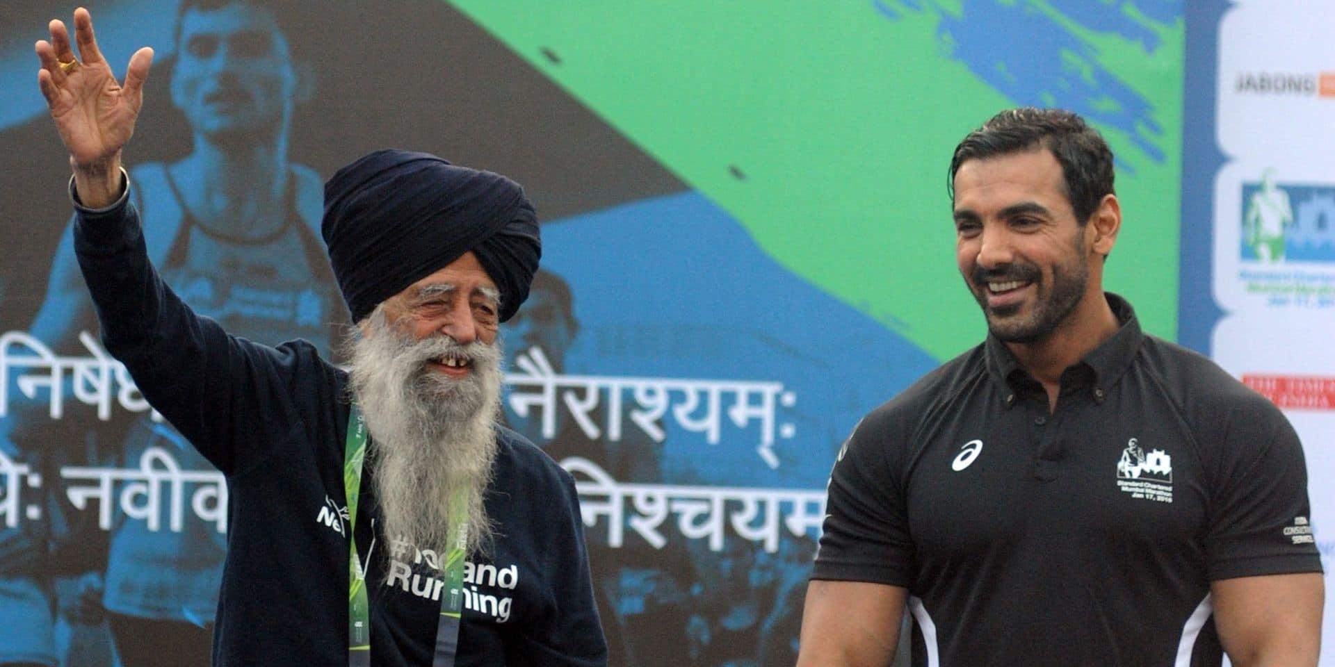 Fauja Singh, le premier centenaire à avoir bouclé un marathon