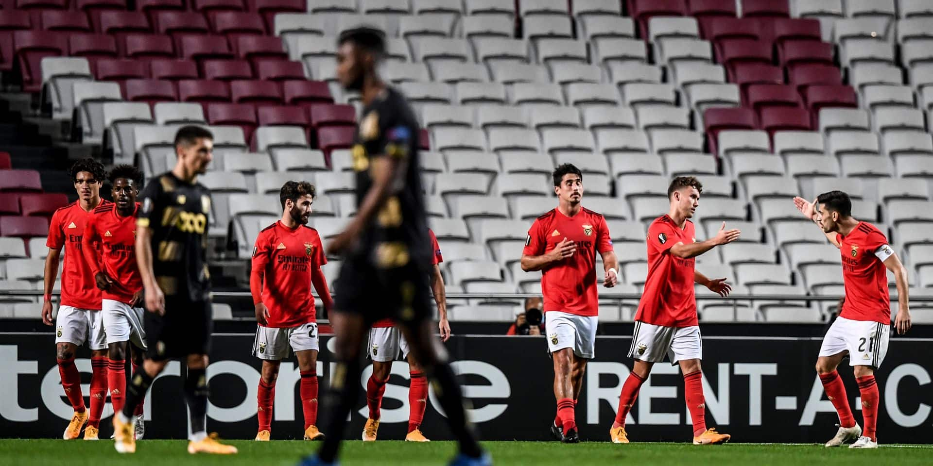 Le Standard s'incline lourdement à Benfica (3-0)
