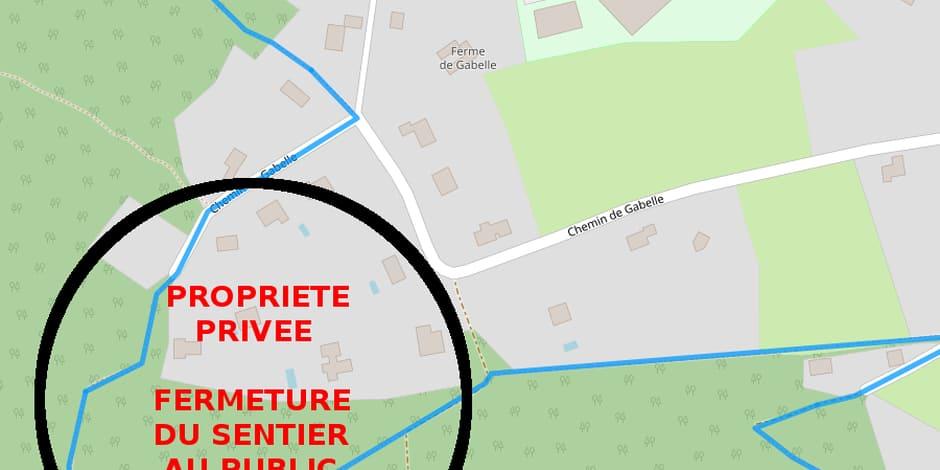 Huy: un sentier de randonnée interdit au public !