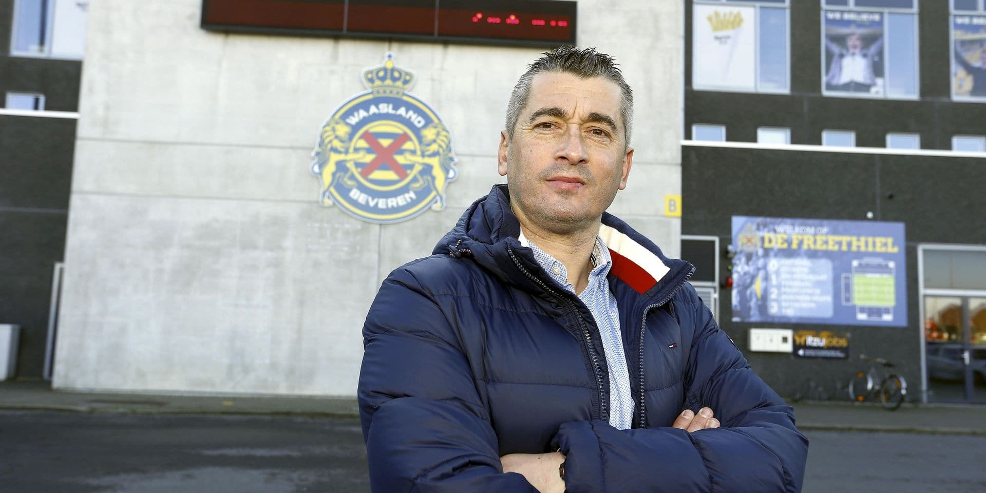 Waasland-Beveren new head coach Adnan Custovic poses at Jupiler Pro League soccer team Waasland-Beveren, Saturday 17 November 2018 in Beveren-Waas. BELGA PHOTO NICOLAS MAETERLINCK