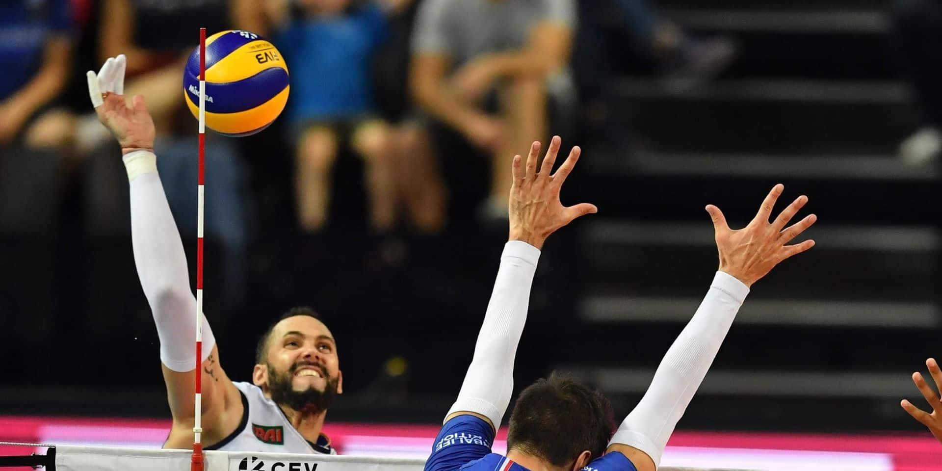 Euro de volley: l'Italie bat la Turquie et complète le tableau des quarts de finale