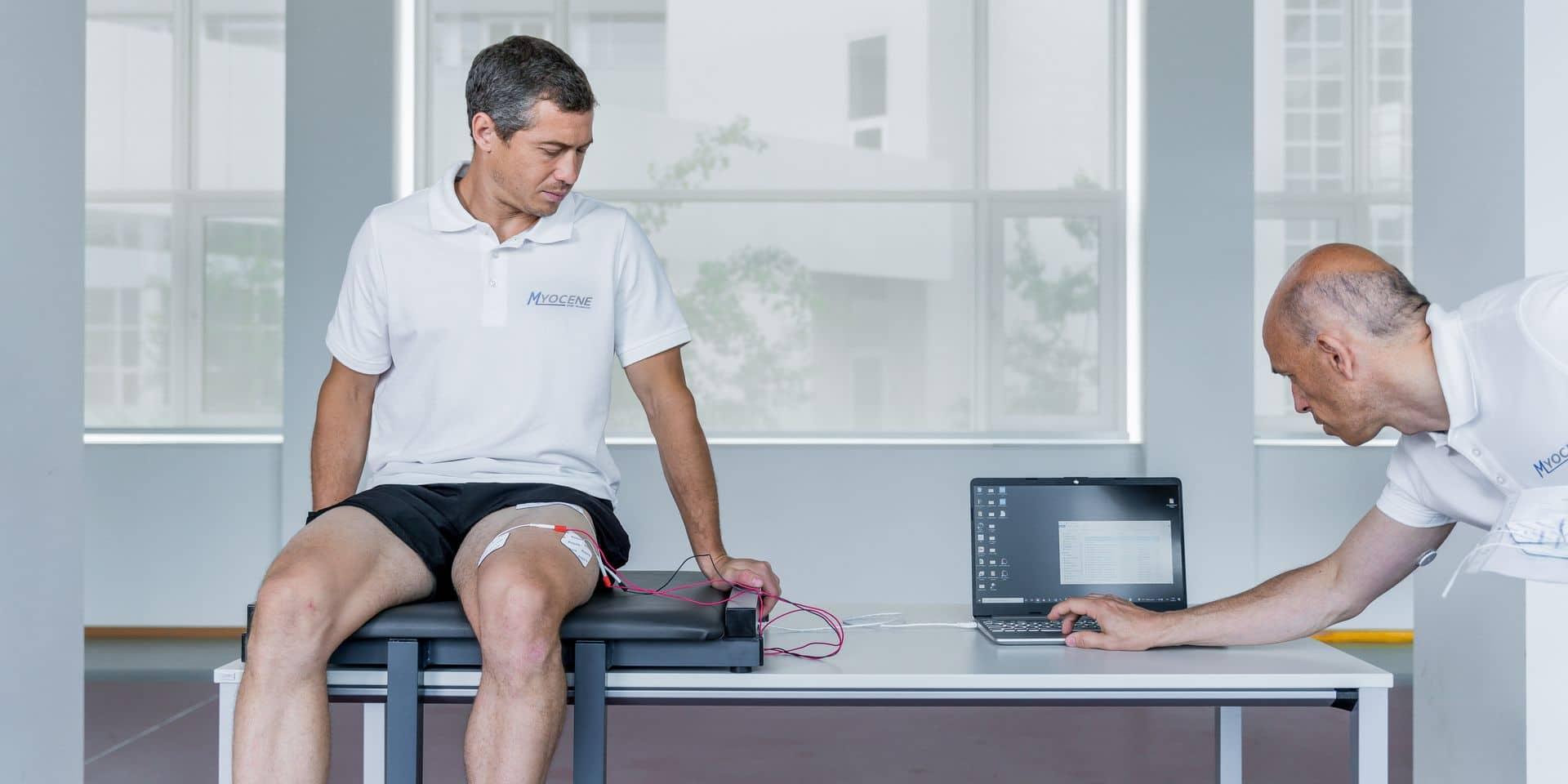 John-John Dohmen présente Myocène, premier dispositif à mesurer la fatigue musculaire