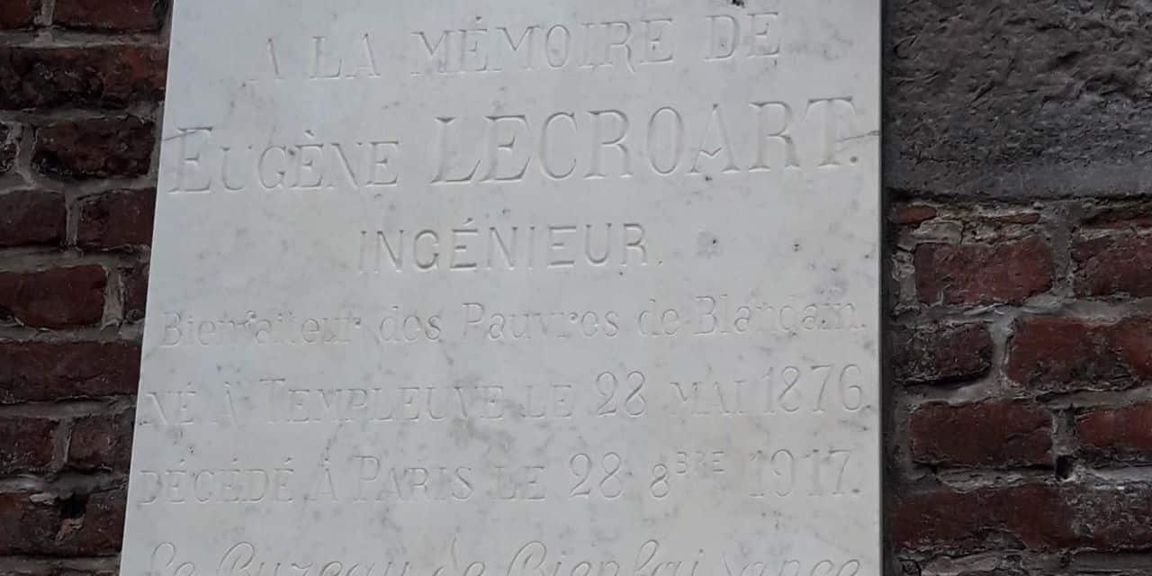 Blandain: la plaque qui avait été vandalisée a été restaurée