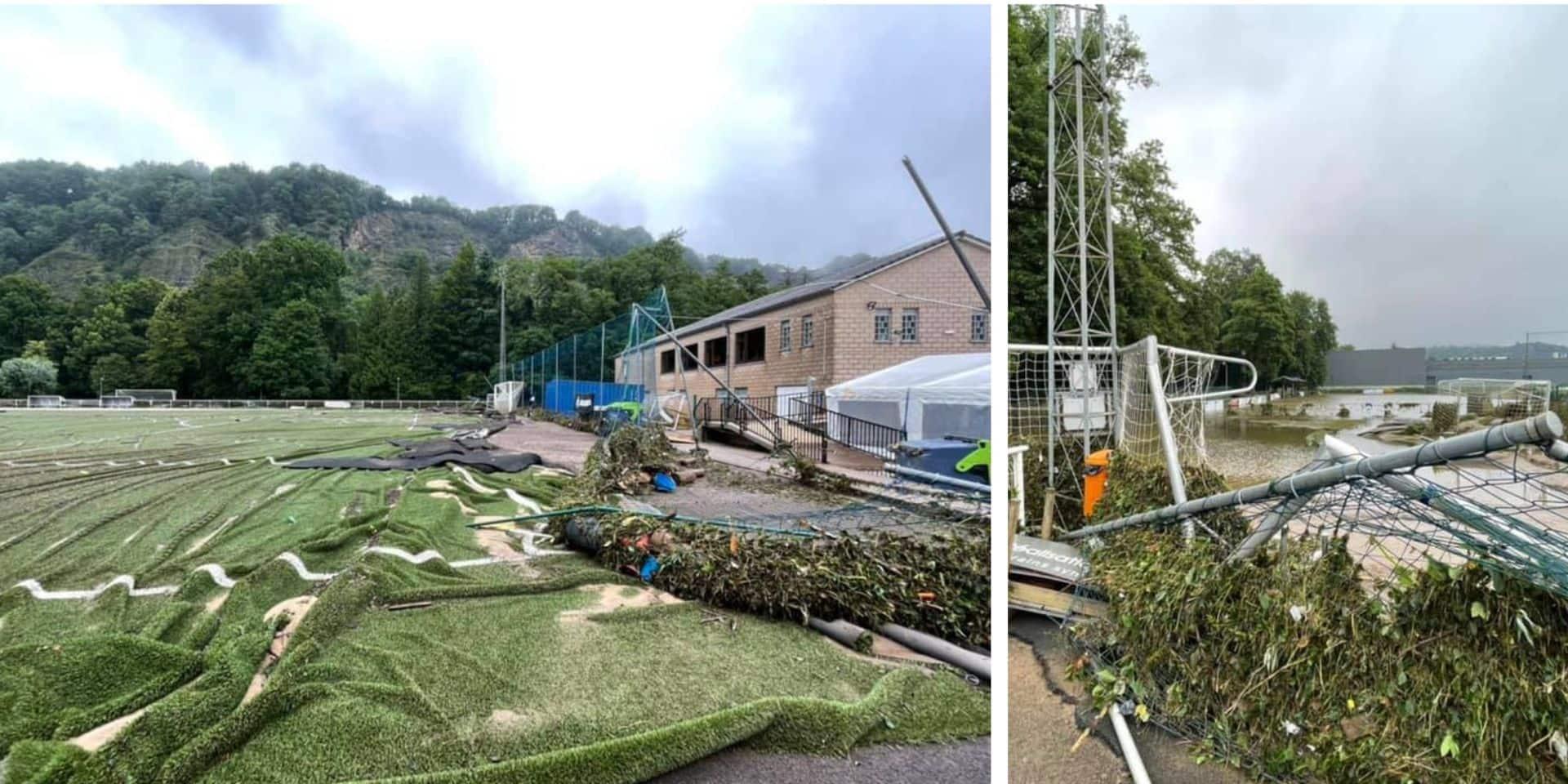 Après les inondations, le président du RFC Aywaille plaide pour que les clubs de la commune se rassemblent sur un seul site