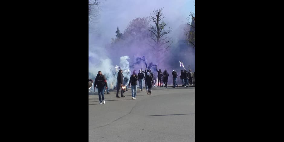 Accueil chaleureux pour les joueurs d'Anderlecht avant le Topper