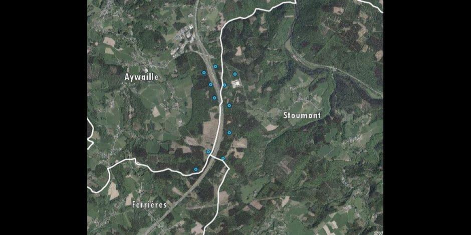 11 éoliennes le long de l'autoroute E 25