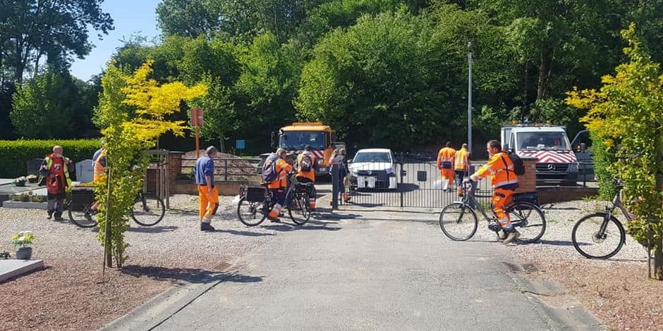 À Ecaussinnes, les ouvriers communaux se mettent au vélo électrique
