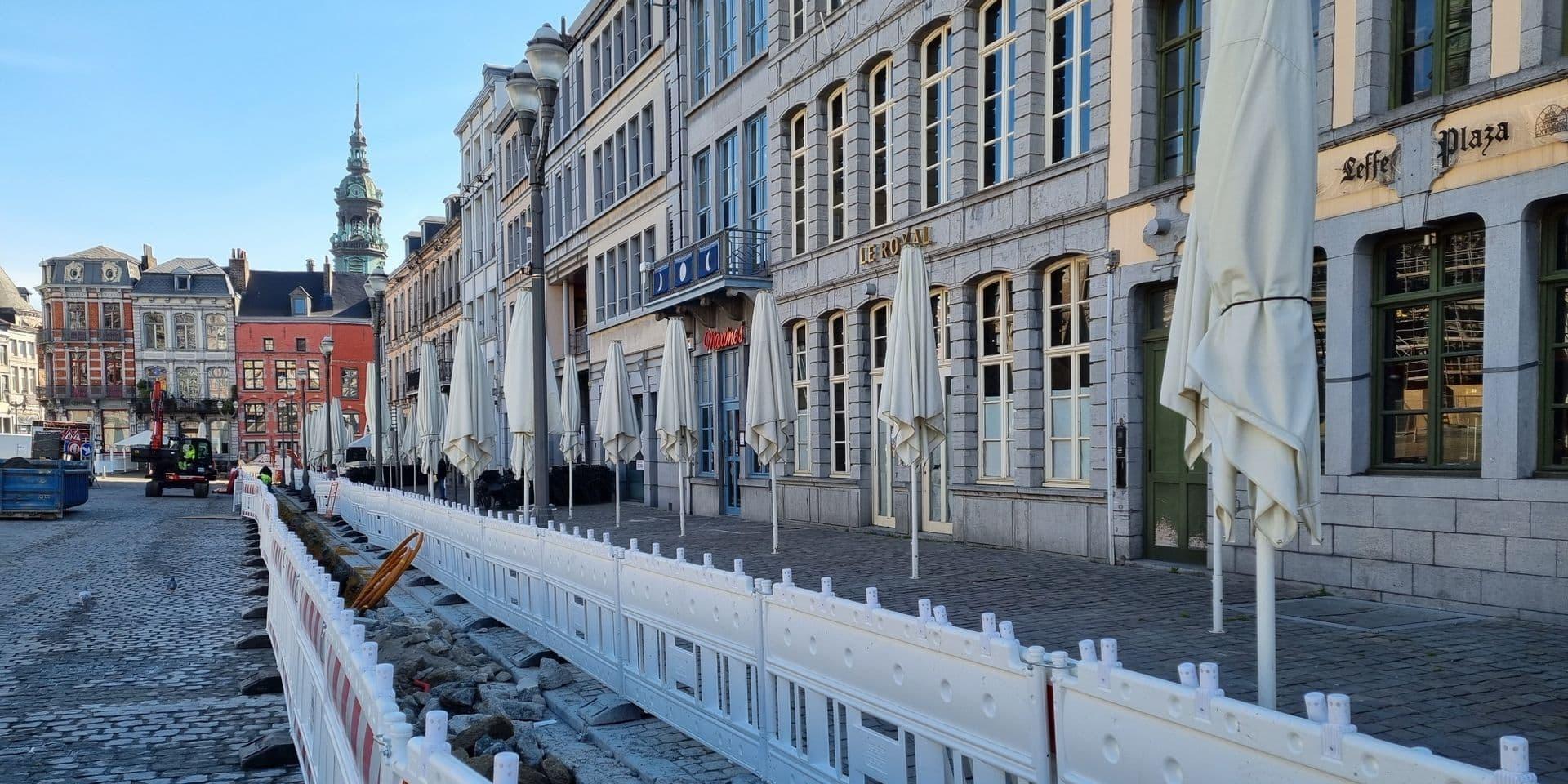 Travaux sur la Grand-Place de Mons: Le chantier sera terminé pour la réouverture des terrasses