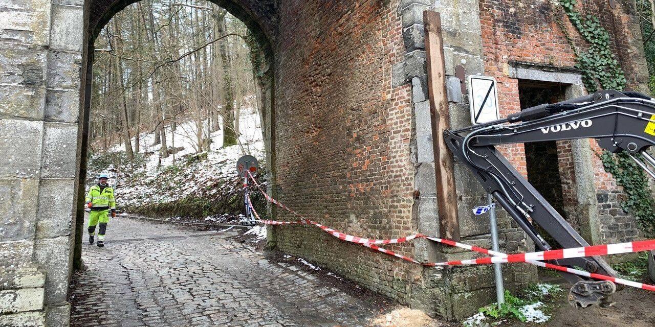 Une arcade de l'abbaye de Villers heurtée par un camion