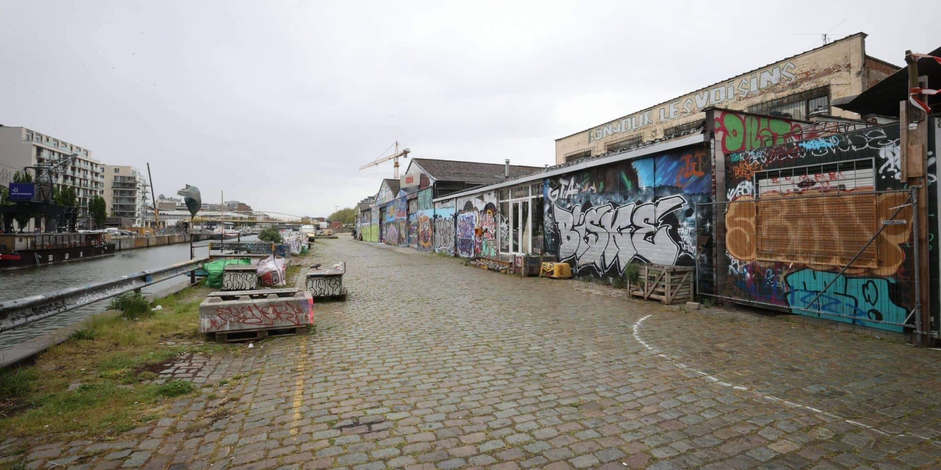 """Allée du Kaai dans la zone Canal: """"Le quartier mérite un projet de qualité"""""""