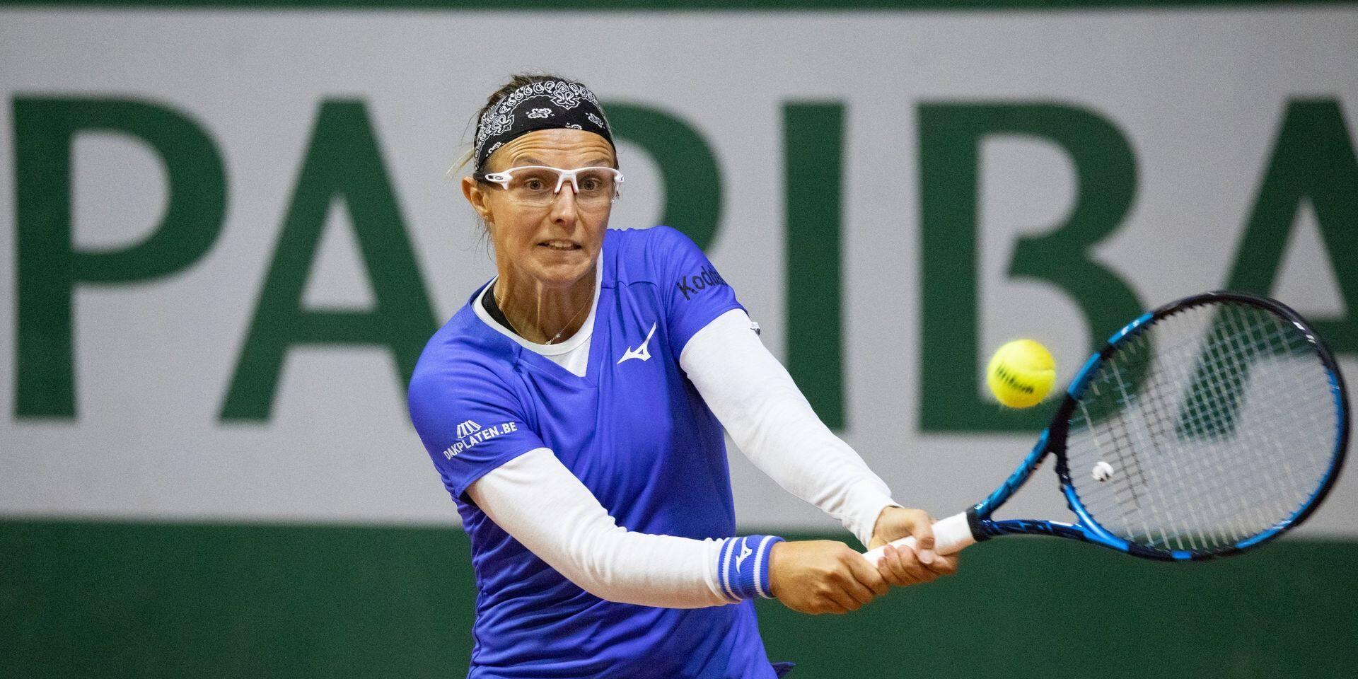Roland-Garros: Kirsten Flipkens se hisse au 2e tour du double