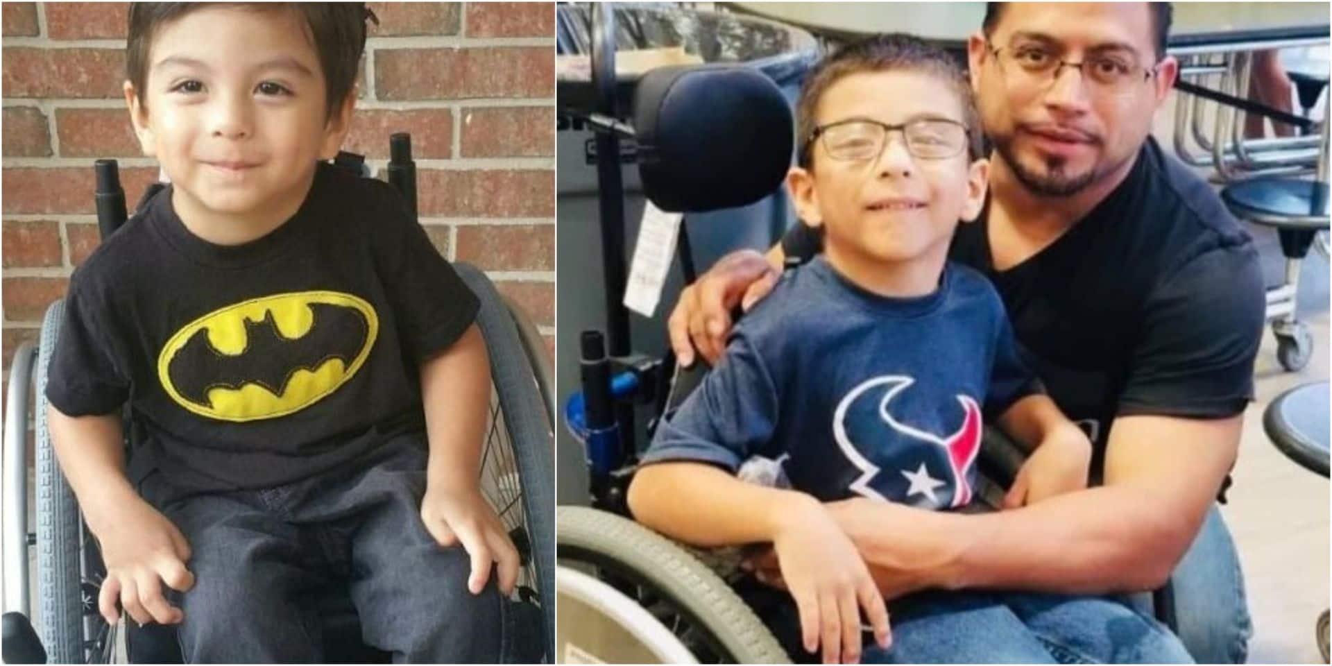 En rampant, un enfant paralysé de 7 ans parvient à sauver toute sa famille