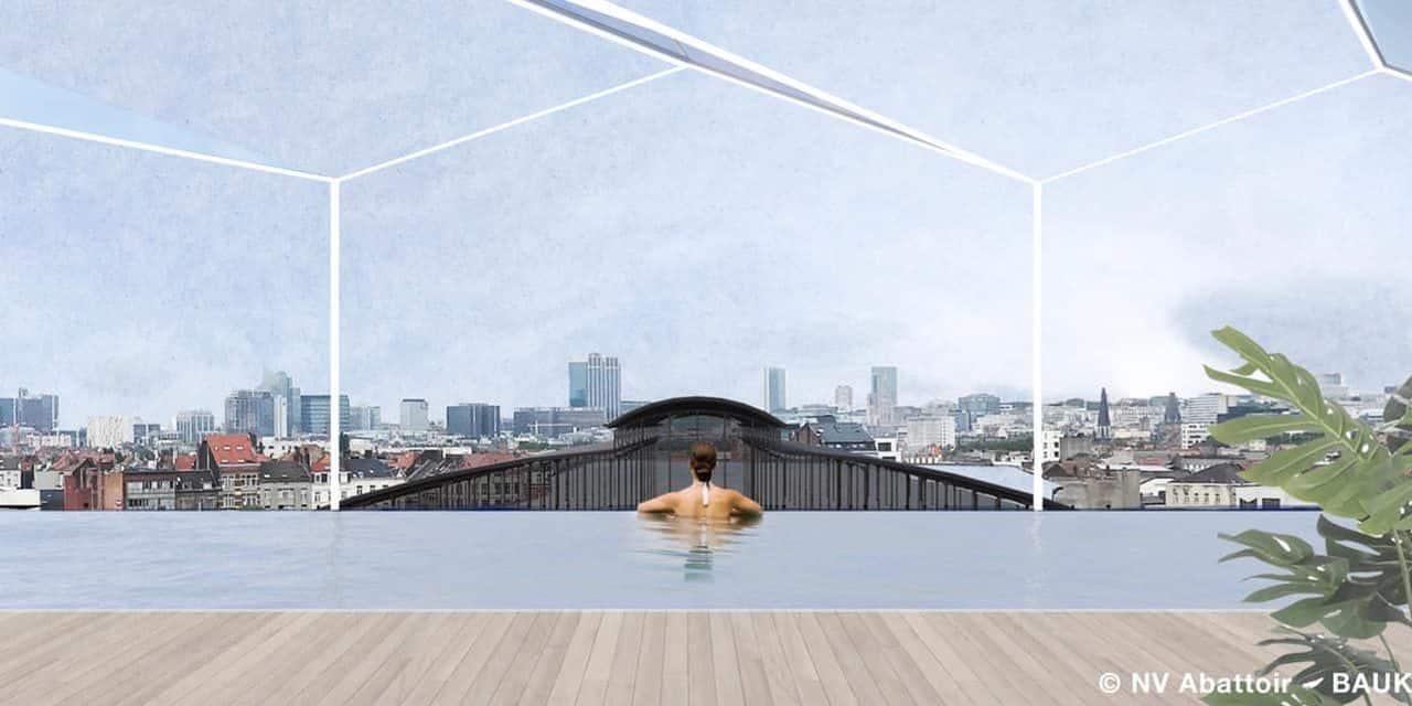 Bientôt, une piscine à ciel ouvert sur le toit des Abattoirs d'Anderlecht ? (PHOTOS)