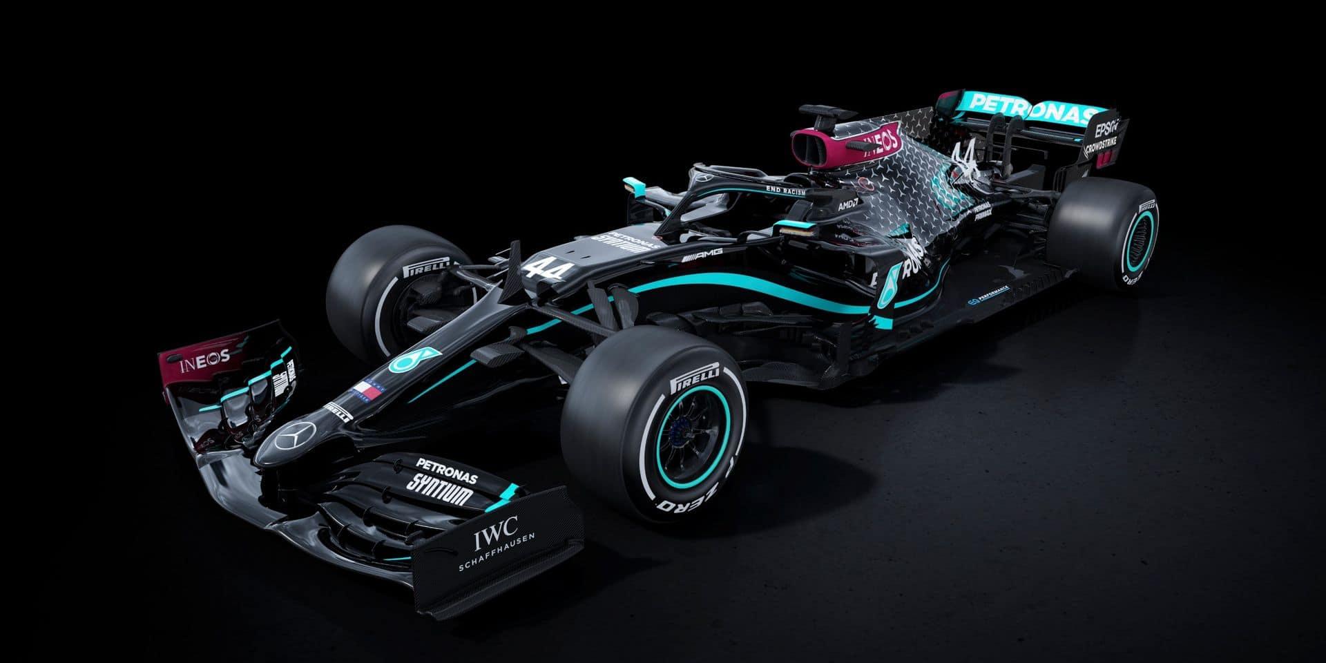 Mercedes roulera avec une F1 noire pour protester contre le racisme