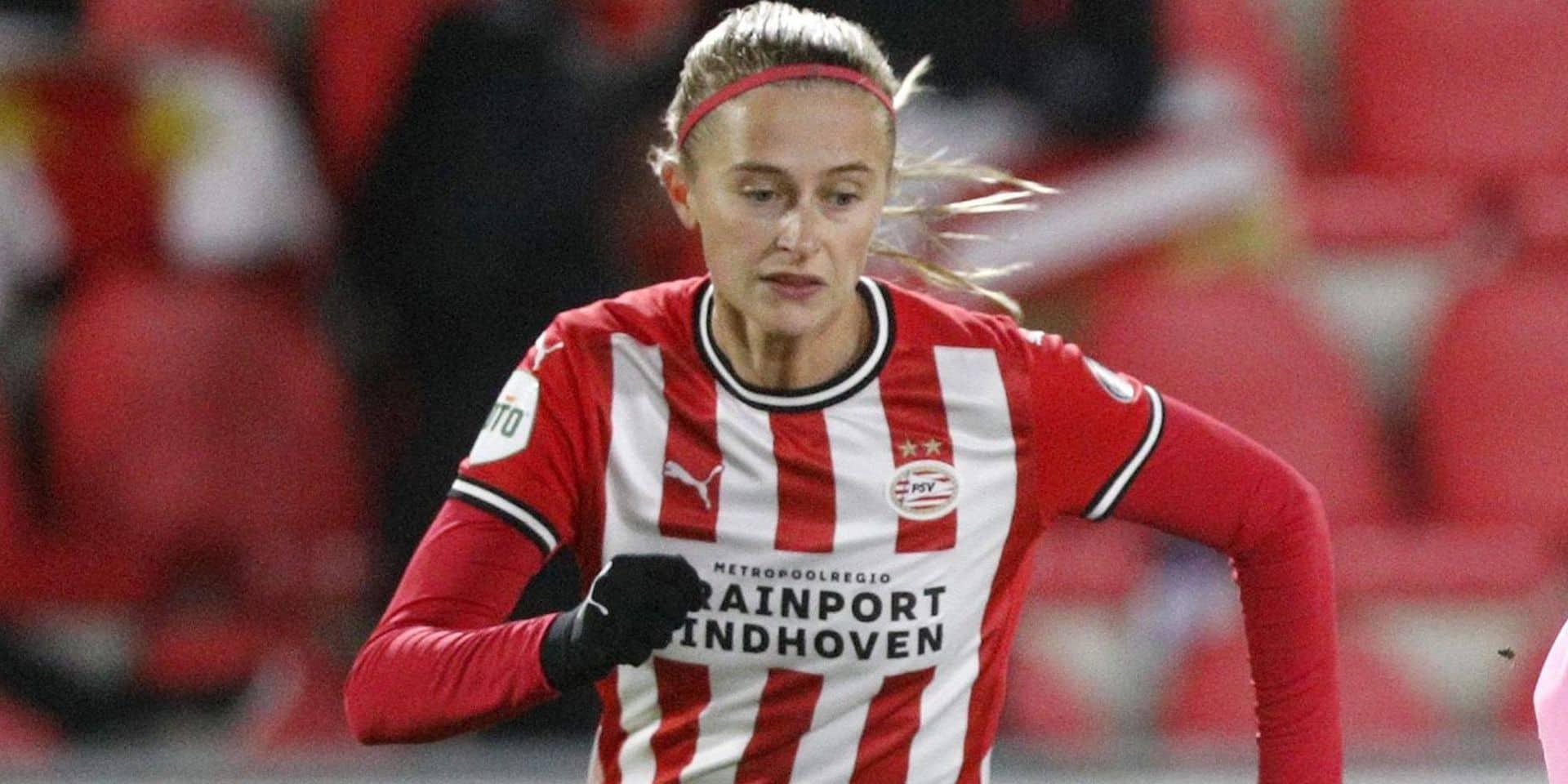 Ligue des Champions féminine: Julie Biesmans et le PSV éliminés en seizièmes de finale contre Barcelone