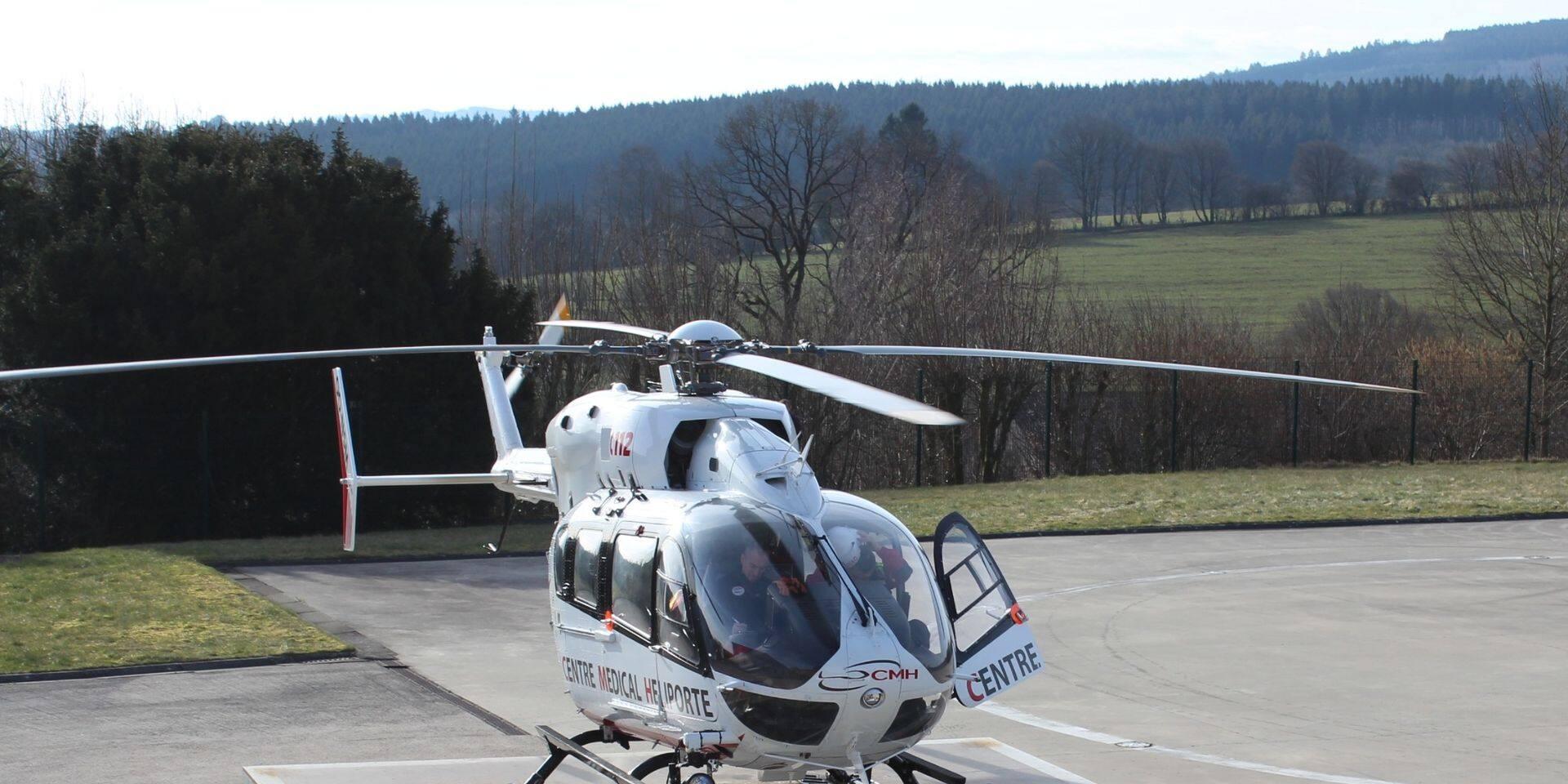 Accident grave à La Roche-en-Ardenne : un motard blessé a été héliporté