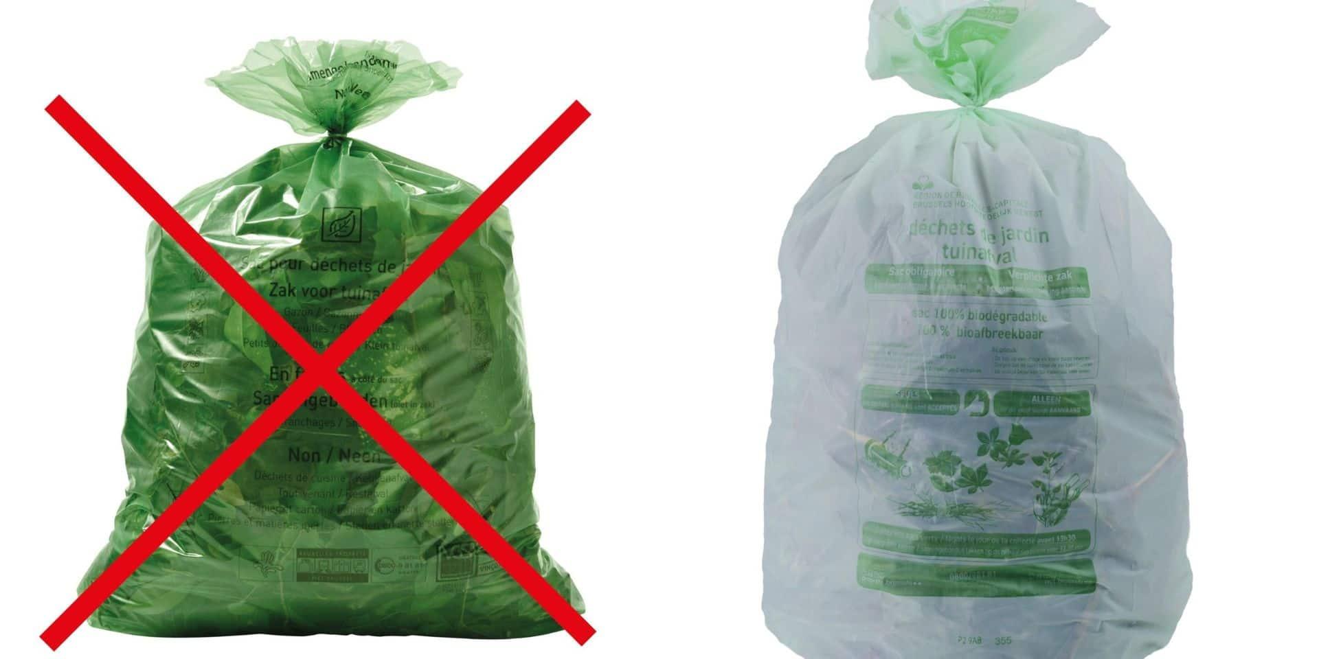 Déchets verts : trop de Bruxellois utilisent encore de vieux sacs non réglementaires