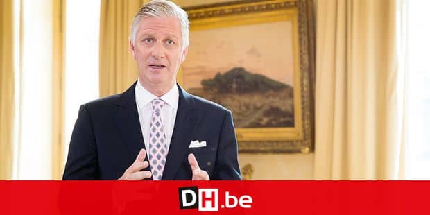 ATTENTION EDITORS - STRICT EMBARGO - FRIDAY 20 JULY AT 13:00 King Filip-Philippe of Belgium pictured during the recording of his annual television and radio speech on the occasion of the Belgian National day, celebrated on 21 July, at the Royal Palace in Brussels, Tuesday 17 July 2018. The picture was distributed on Friday 20 July 2018. BELGA PHOTO POOL BENOIT DOPPAGNE